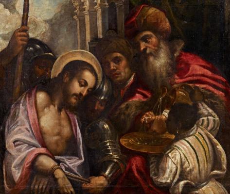 Джакомо Пальма Младший. Христос перед Пилатом