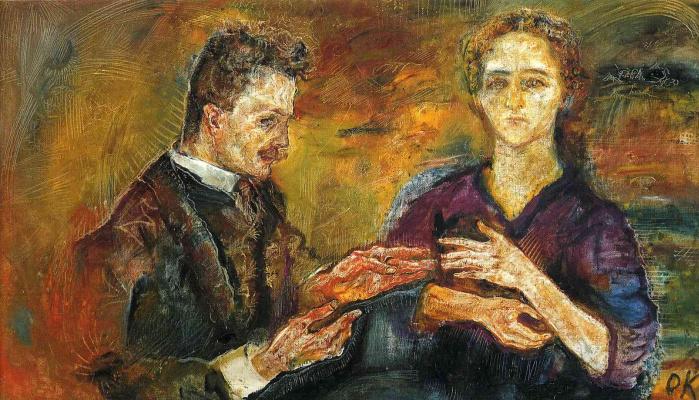 Oskar Kokoschka. Hans Tietze and Erica Tietze-Konrat