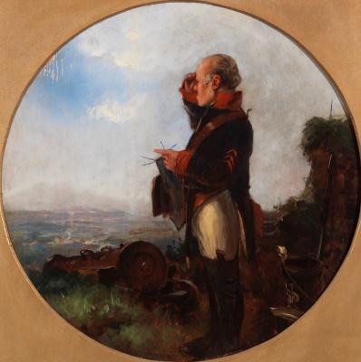 Карл Шпицвег. Солдат с вязанием на посту