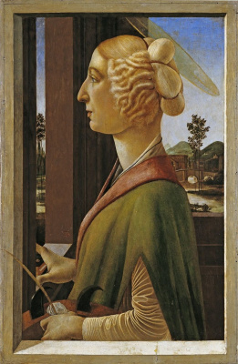 Sandro Botticelli. Portrait of a lady