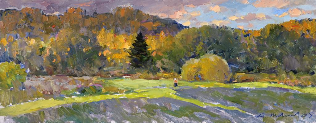 Alexander Shevelyov. Autumn. D.V.P., oil 28 X 70 cm. 2015