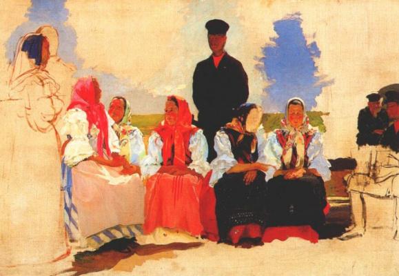 Andrei Petrovich Ryabushkin. Sunday in the countryside