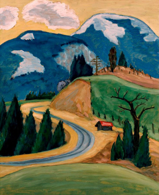 Gabriele Münter. Winding road