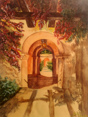 Ekateryna Zabruckaya. Italian courtyard
