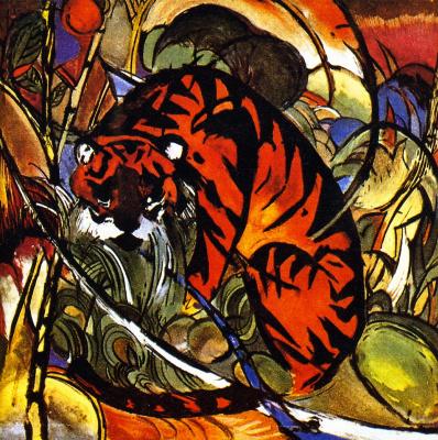 Франц Марк. Тигр в джунглях