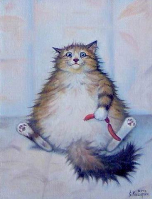 Stepan Vladimirovich Kashirin. The cat with sausages