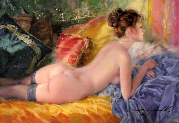 Constantine Razumov. Reclining Nude.