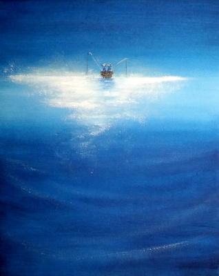Valentina Khudyakova. In the boat