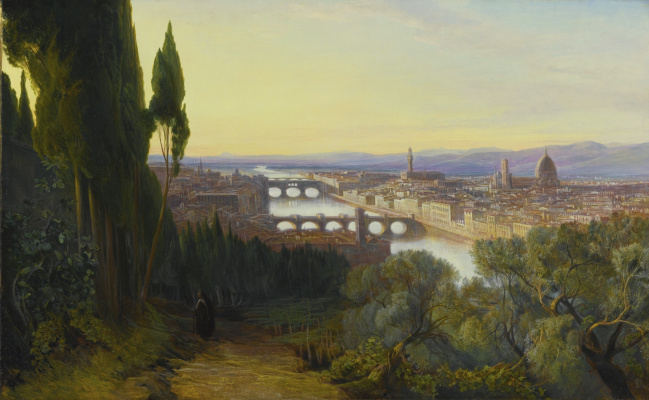 Эдвард Лир. View of Florence from San Miniato