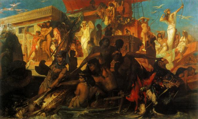 Hans Makart. Cleopatra