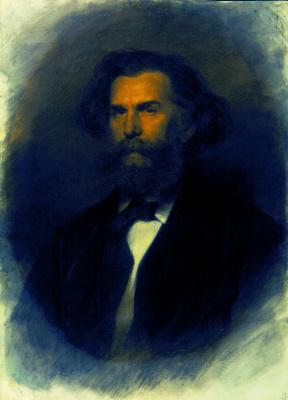 Ivan Nikolayevich Kramskoy. Portrait of the artist Alexei Petrovich Bogoliubov