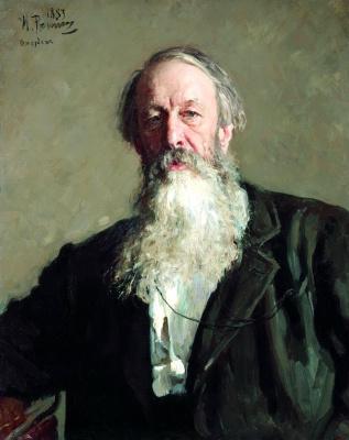Ilya Efimovich Repin. Portrait Of V. V. Stasov