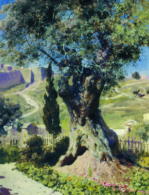 Vasily Dmitrievich Polenov. The olive tree in the garden of Gethsemane
