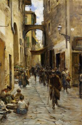 Телемако Синьорини. Флорентийское гетто