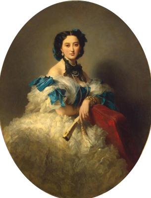 Franz Xaver Winterhalter. Portrait of Countess Varvara Alekseyevna Musina-Pushkina