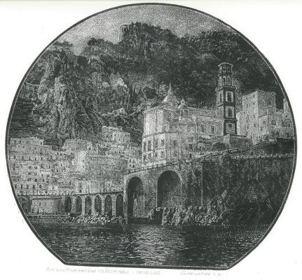 Eugene Lazarevich Blumkin. Amalfi Coast.