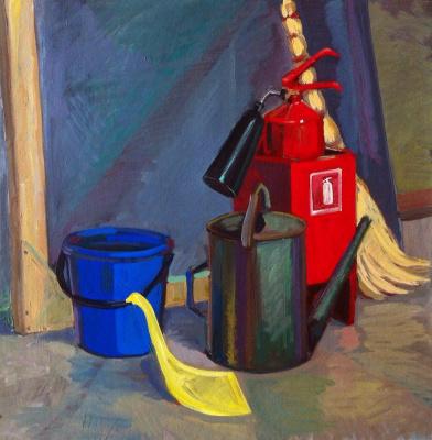 Marat Savelievich Gogaev. Still life with fire extinguisher