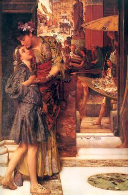 Lawrence Alma-Tadema. A Parting Kiss