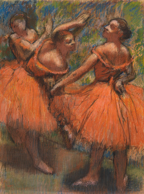Эдгар Дега. Балерины в оранжевых пачках