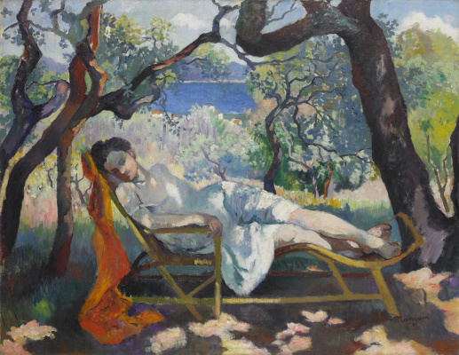 Henri Manguin. Siesta (Jeanne in a chaise longue)