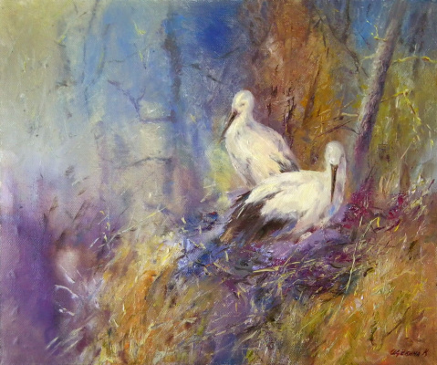 Christina Shchekina. Far East Stork