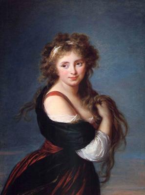 Elizabeth Vigee Le Brun. Portrait of the Marquise Gabrielle Roland