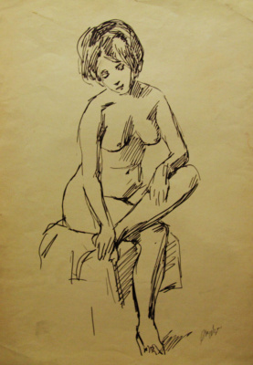 Gordon Meerovich Grigory (1909 - 1995). Undress model