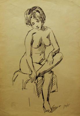 Gordon Meerovich Grigory (1909 - 1995). Undress model