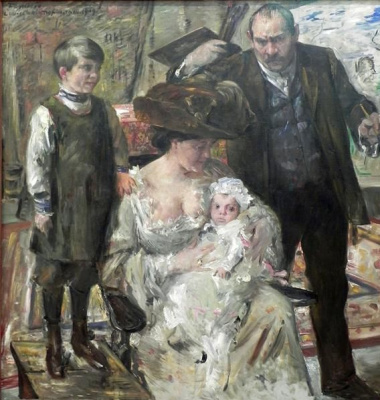 Lovis Corinto. The artist and his family