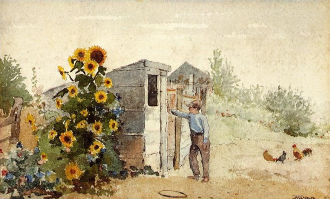 Winslow Homer. Summer in the backyard