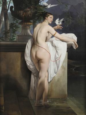Francesco Ayets. Venus with two pigeons (Portrait of a ballet dancer Carlotta Chaber)