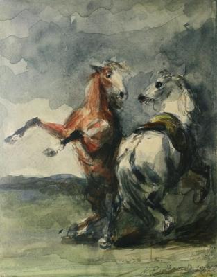 Константин Иванович Рудаков. Пара коней