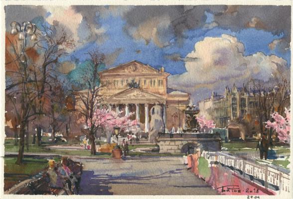 Anton Batov. Spring. theatre square