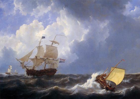 Йоханнес Шотел. Корабль на изменчивом море