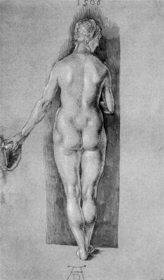 Albrecht Durer. Nude figure from the back