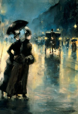 Lesser Ury. Night lighting