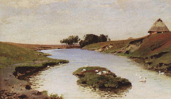 Vasily Dmitrievich Polenov. Landscape with a river