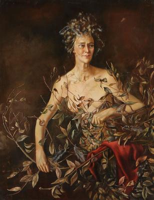 Leonor Fini. Portrait of Mrs. Hasellter