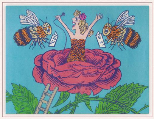 Бернард Лодж. Красная роза