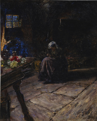 Giovanni Giacometti. In the kitchen