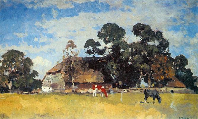 Корнелис Вриденбург. Коровы на лугу