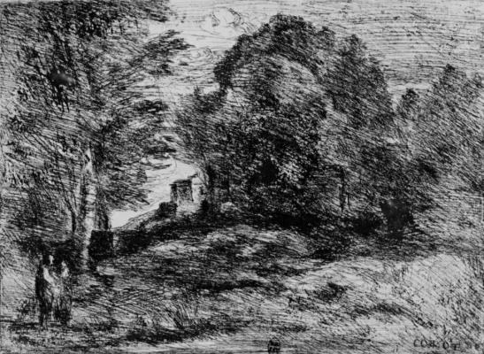 Camille Corot. Tomb of Semiramis