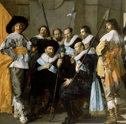 France Hals. The captain Reinier Rajala and Lieutenant Cornelis Michels. Fragment 2