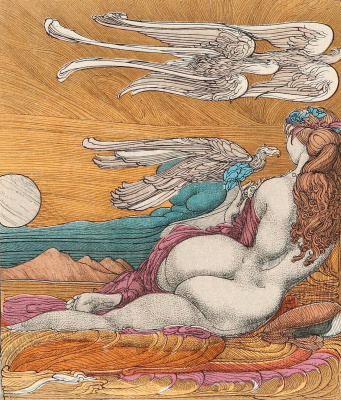 Ernst Fuchs. The lonely nymph