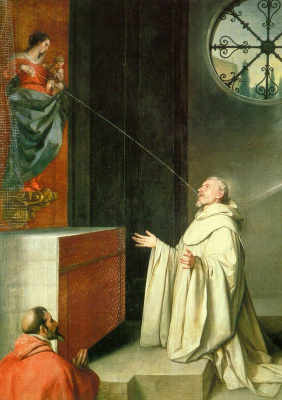 Alonso Cano. The vision of St. Bernard