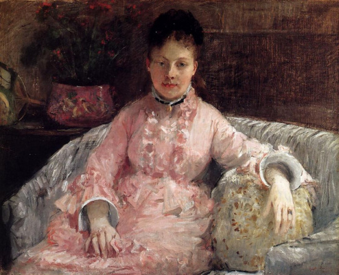 Berthe Morisot. The pink dress