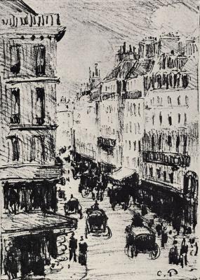 Camille Pissarro. Rue Saint-Lazare in Paris