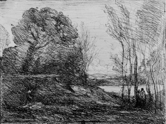 Camille Corot. Po coast