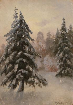 Константин Аполлонович Савицкий. Зимний лес