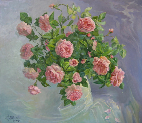 Александр Алексеевич Дубровский. Roses Painting by Oleksandr Dubrovskyy